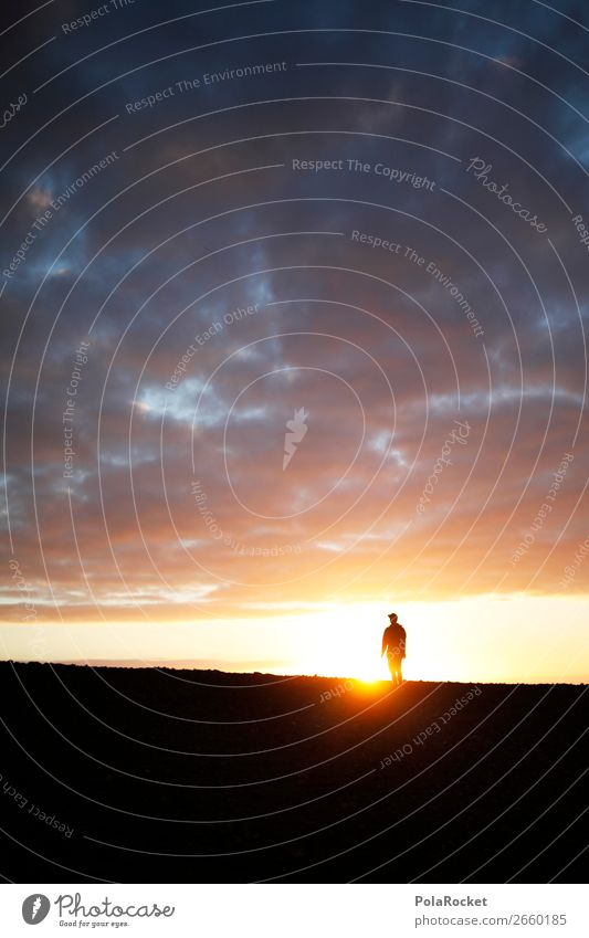 #AS# LightWalker Nature Esthetic Hiking Silhouette Youth (Young adults) Sun Exterior shot Sunbeam Future Human being Going Perspective Futurism
