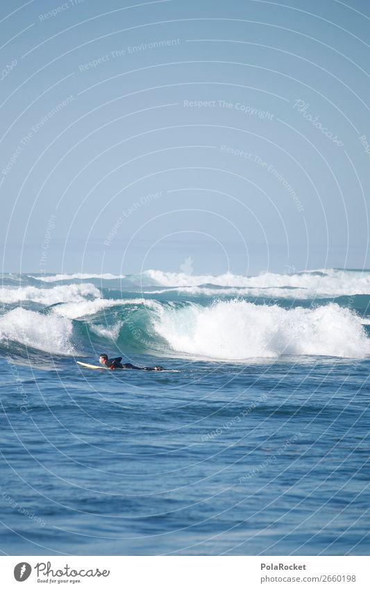 #AS# in the waves Nature Esthetic Ocean Waves Undulation Wavy line Wave action Wave break Surfing Surfer Surfboard Surf school Man Aquatics Extreme sports