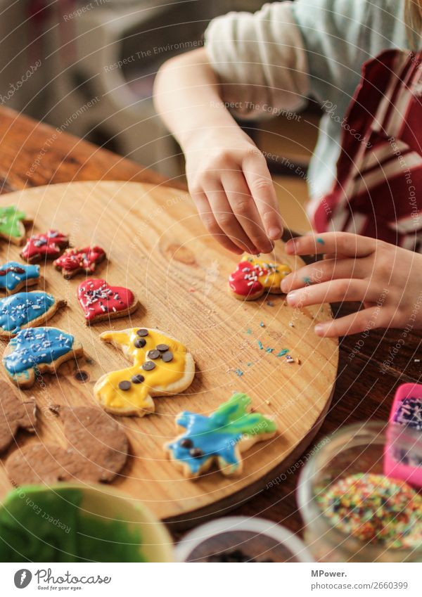 christmas baker Human being Child 1 Work and employment Baking Cookie Christmas & Advent Christmas biscuit Delicious Tradition Handcrafts Infancy Love Plate
