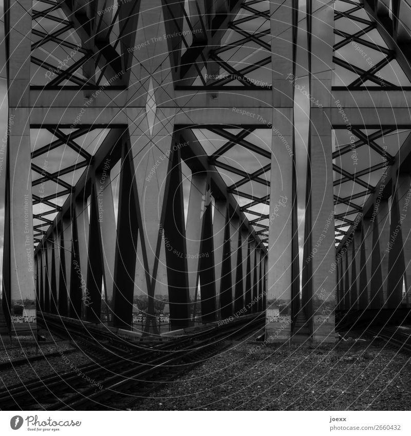 White Black Art Gray Large Bridge Steel Sharp-edged