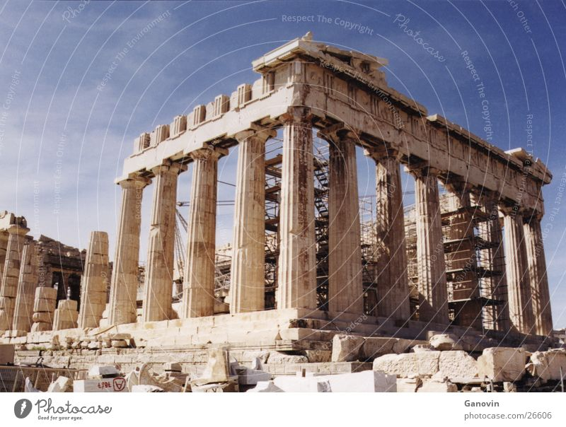 Building Europe Past Greece Ancient Römerberg Athens Acropolis