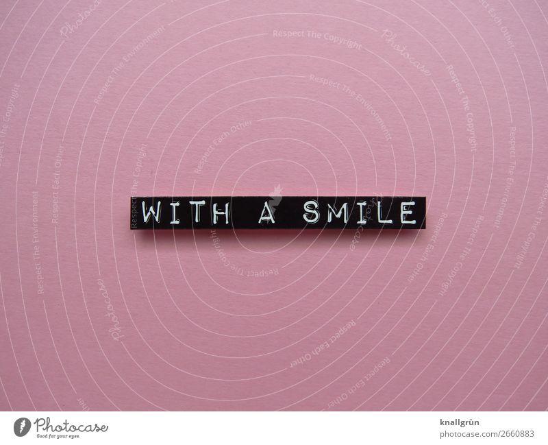 With a smile Friendliness Positive Happiness Optimism Joie de vivre (Vitality) Joy Human being Contentment Laughter Emotions Colour photo Pink Black White