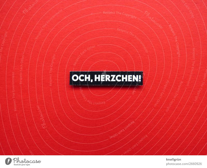 OCH, HERZCHEN! Characters Signs and labeling Communicate Red Black White Emotions Sympathy Friendship Together Love Compassion To console Interest Relationship