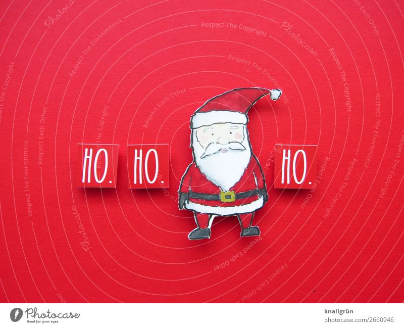 HO. HO. HO. Santa Claus Characters Signs and labeling Communicate Red Black White Emotions Moody Happiness Anticipation Curiosity Expectation Joy Tradition