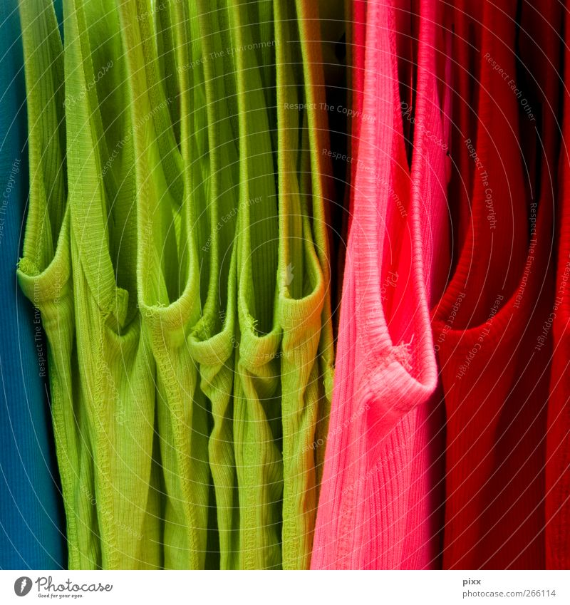 S, M, L, XL Trade Fashion Clothing Shirt Underwear Hang Cheap Blue Green Pink Sleeveless t-shirt Multicoloured Fine rib Colour photo Exterior shot Deserted Day
