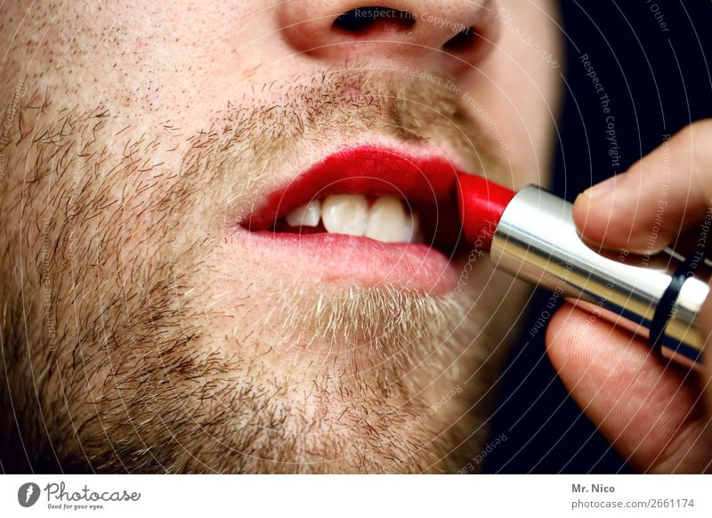 Human being Red Eroticism Feminine Exceptional Masculine Mouth Teeth Hip & trendy Personal hygiene Lips Facial hair Cosmetics Homosexual Make-up Brash