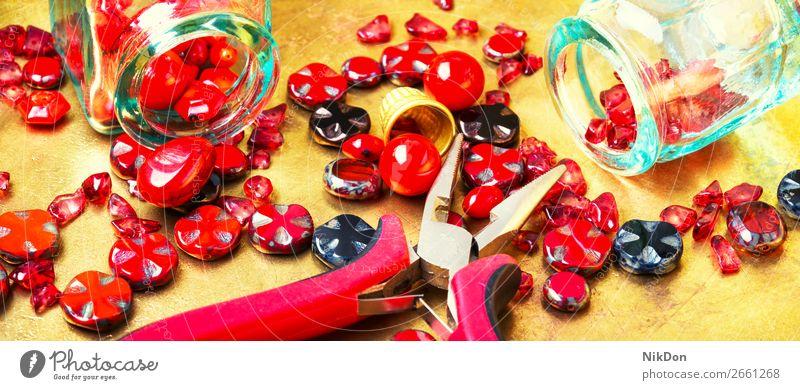 Set glass beads decoration craft handmade accessory beading fashion colorful Czech glass design macro stone hobby art style necklace bracelet jewelry handcraft
