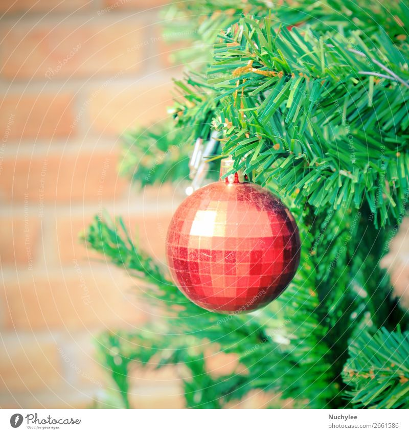 Close up christmas tree decoration, retro filter effect Design Winter Decoration Feasts & Celebrations Christmas & Advent Culture Plant Tree Places Toys Candle