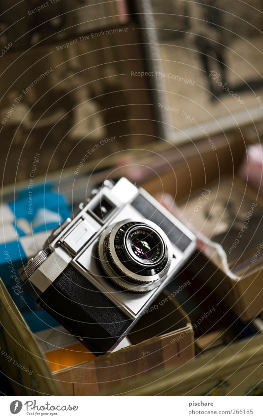 his time Camera Old Historic Retro Brown Creativity Analog Photography Colour photo Interior shot Shallow depth of field