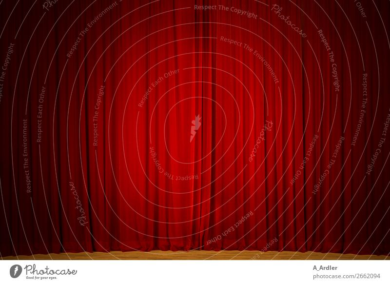 red curtain Stage play Theatre Concert Orchestra Cinema Brown Red Black Drape Velvet Wrinkles Folds Shows Event Colour photo Interior shot Structures and shapes