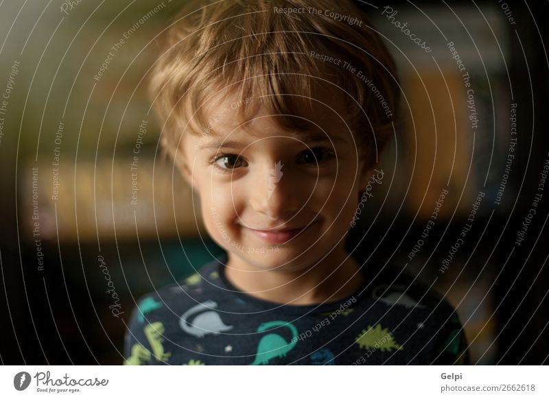 Portrait of a funny child at home smiling Joy Happy Beautiful Face Playing Child Baby Boy (child) Infancy Blonde Smiling Laughter Happiness Small Funny Cute