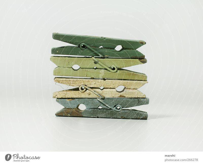 Blue White Green Wood Brown 4 Sign Stack Holder