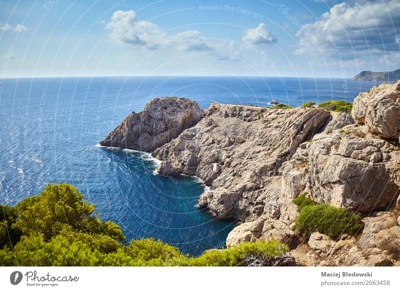 Scenic landscape of Capdepera, Mallorca. Vacation & Travel Tourism Trip Adventure Far-off places Freedom Summer Summer vacation Ocean Island Mountain Hiking
