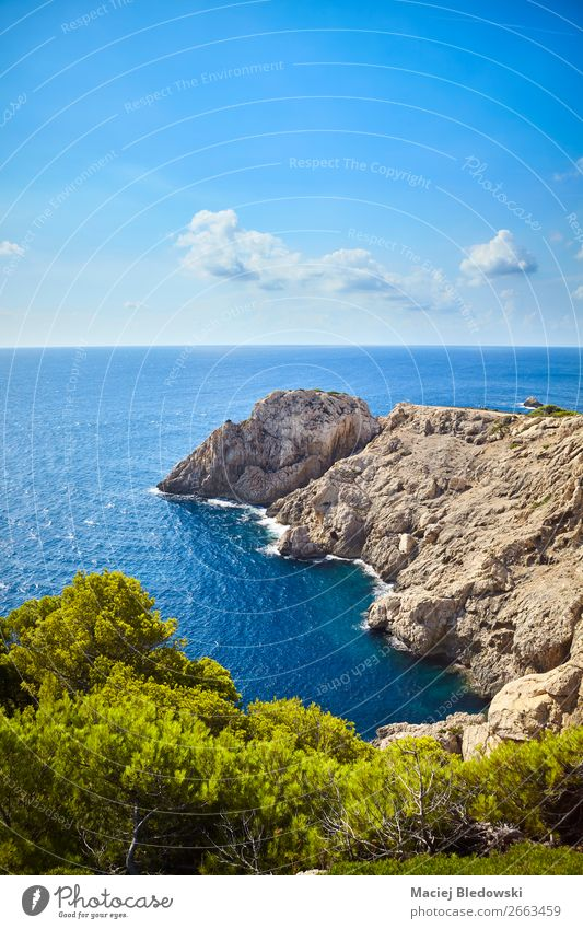 Scenic landscape of Capdepera, Mallorca. Vacation & Travel Tourism Trip Adventure Far-off places Freedom Summer Summer vacation Sun Ocean Island Waves Mountain