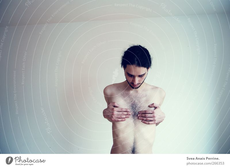 Human being Youth (Young adults) Adults Wall (building) Naked Wall (barrier) Body Arm Skin Masculine Exceptional Fingers Stand 18 - 30 years Young man
