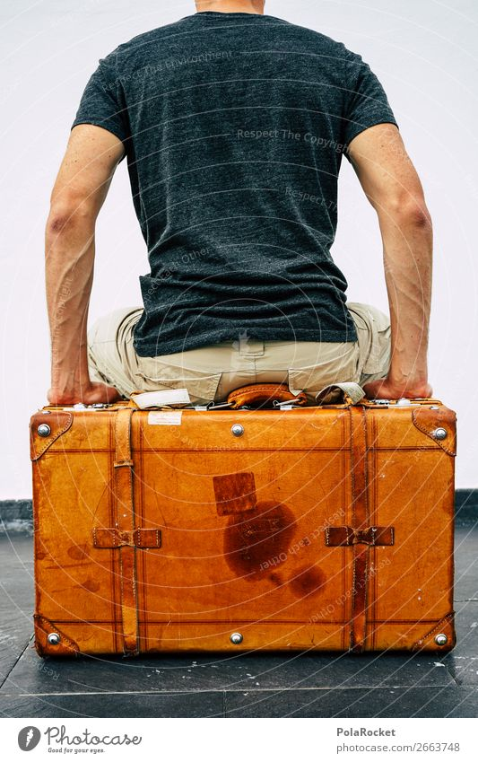 #AS# I'm packing my suitcase... # Leather Flying Suitcase Travel photography Traveling Travel excitement ready for a holiday Divide Containers and vessels Trunk