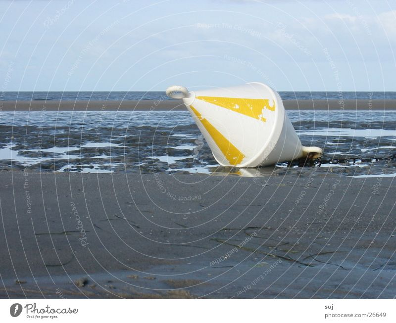 Beach Sand North Sea Flat Low tide Buoy