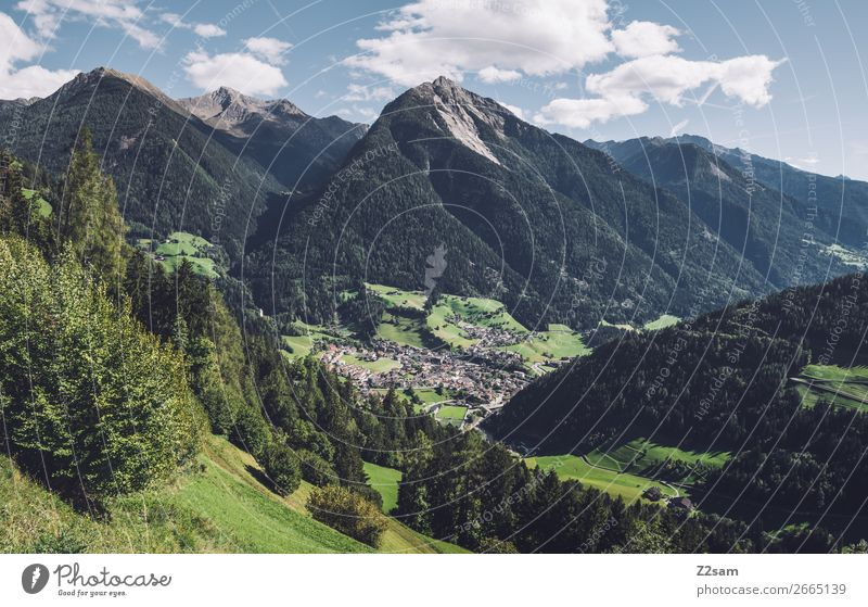 St. Leonhard im Passeier | E5 Hiking Climbing Mountaineering Nature Landscape Sky Summer Beautiful weather Alps Village Natural Blue Green Relaxation