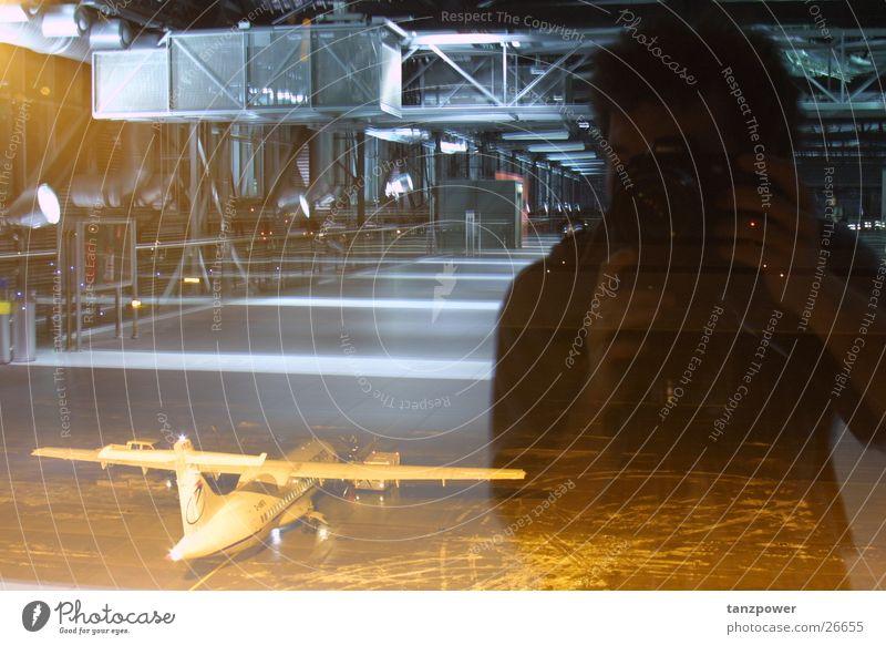 mirroring Dresden Airplane Reflection Self portrait Man Airport depth effect