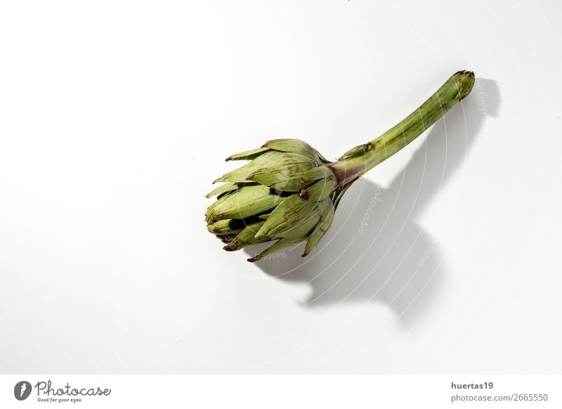 Fresh raw artichokes. Food Vegetable Nutrition Vegetarian diet Diet Healthy Eating Delicious Natural Above Green White Performance Artichoke Raw Detox healthy