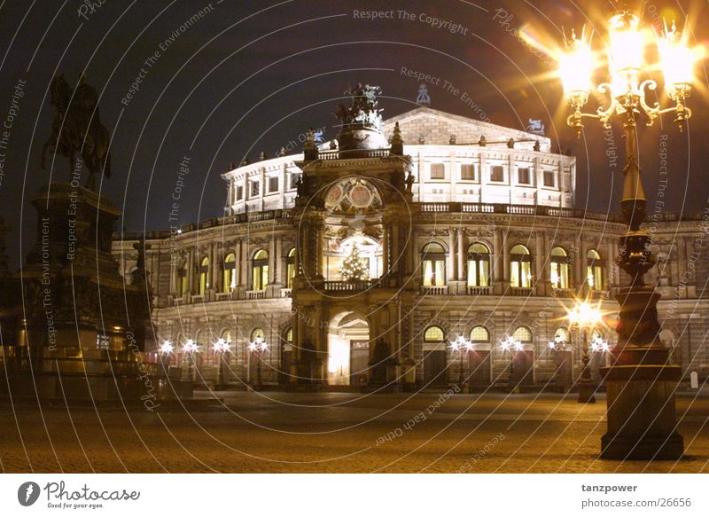 Semper Opera at Night Dresden Architecture Lighting pictorial elements creative means