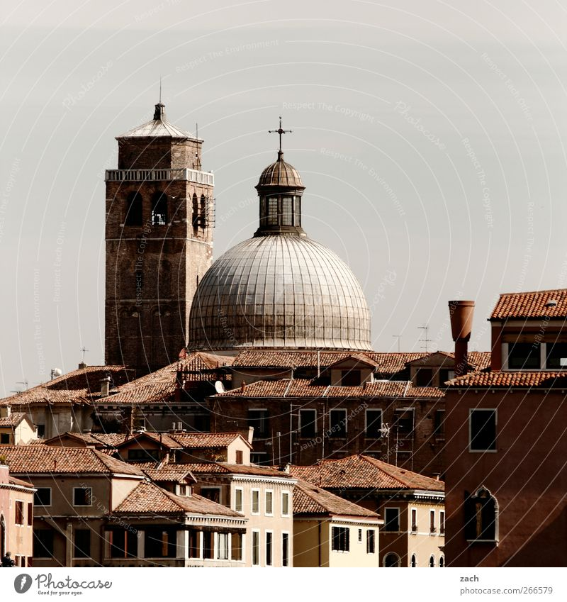 Venice Italy Village Town Old town Skyline House (Residential Structure) Church Dome Window Tourist Attraction Crucifix Living or residing Brown