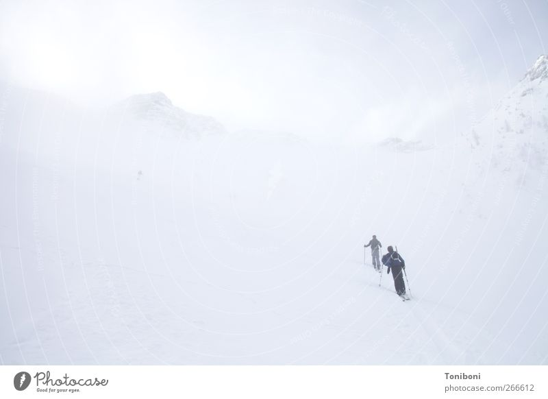 Up, Up and Away Sports Climbing Mountaineering Skiing Nature Weather Fog Alps Peak Federal State of Tyrol Infinity Cold Above White Loneliness Adventure