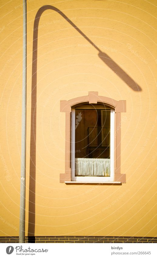 indirect lighting Old building Wall (barrier) Wall (building) Facade Window Illuminate Esthetic Exceptional Elegant Yellow Unwavering Town Street lighting