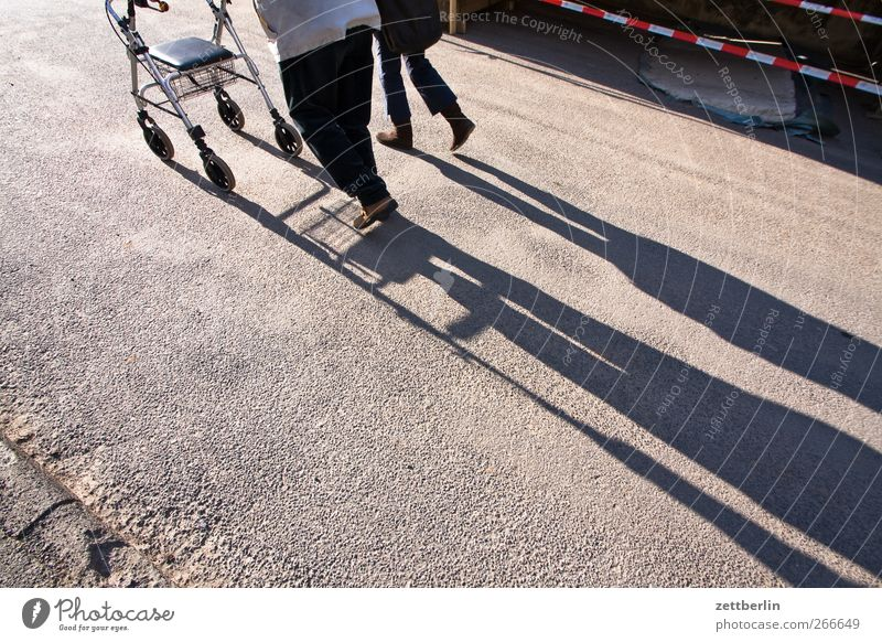 stroll Human being Grandfather Senior citizen Legs 2 60 years and older Small Town Going Walking Help Movement age Companion Handicapped hampered Rollator Push