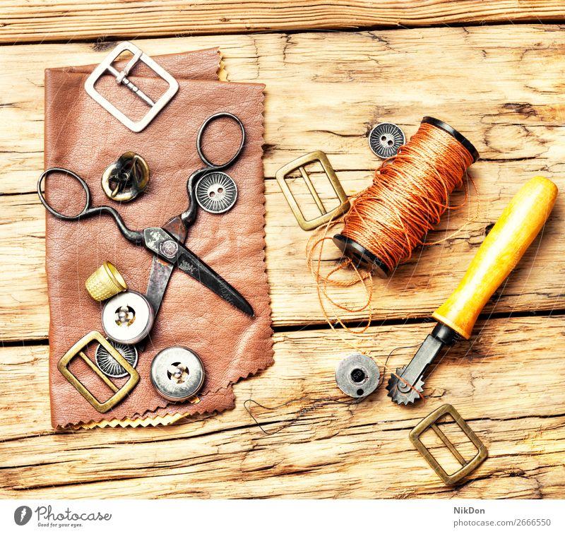 Tools for leather craft handmade tool manual work workshop handicraft shoemaker industrial repair old hobby manufacturing craftsman retro workmanship equipment
