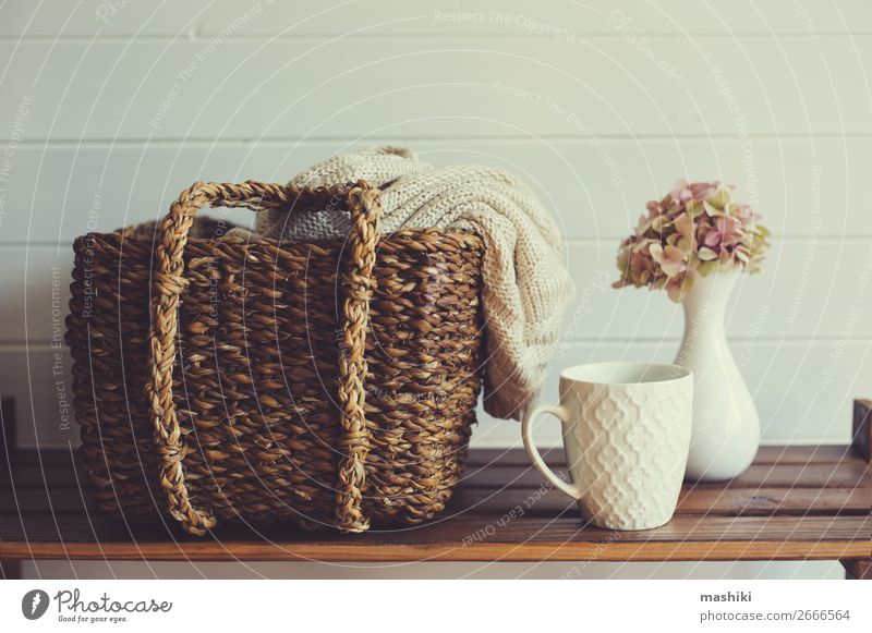 cozy winter interior details in white and brown tones Flower House (Residential Structure) Relaxation Winter Lifestyle Wood Autumn Natural Style Brown Design