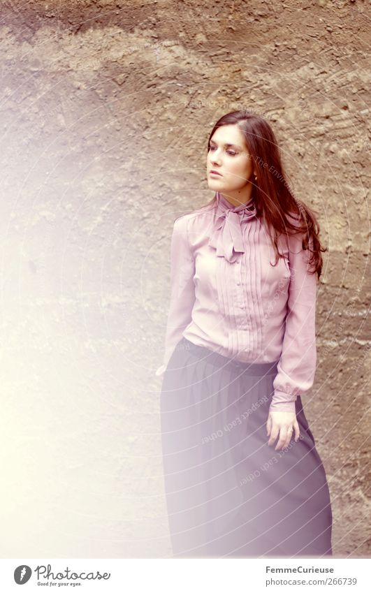 Human being Woman Youth (Young adults) City Beautiful Black Adults Feminine Wall (building) Fashion Elegant Success Esthetic Young woman 18 - 30 years Stand