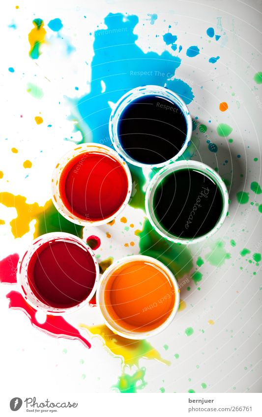 Blue White Green Red Yellow Dye Art Esthetic Drop Plastic Painting and drawing (object) Bizarre Patch Bowl Mixture Mug