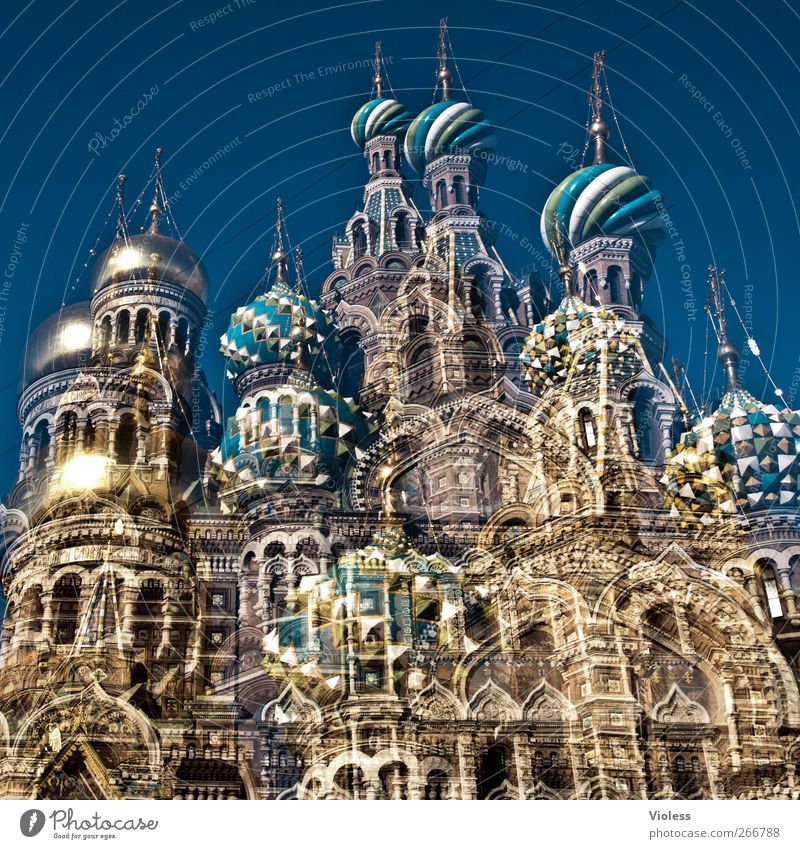 Church Belief Monument Landmark Downtown Tourist Attraction St. Petersburgh Onion tower Church of the ressurection