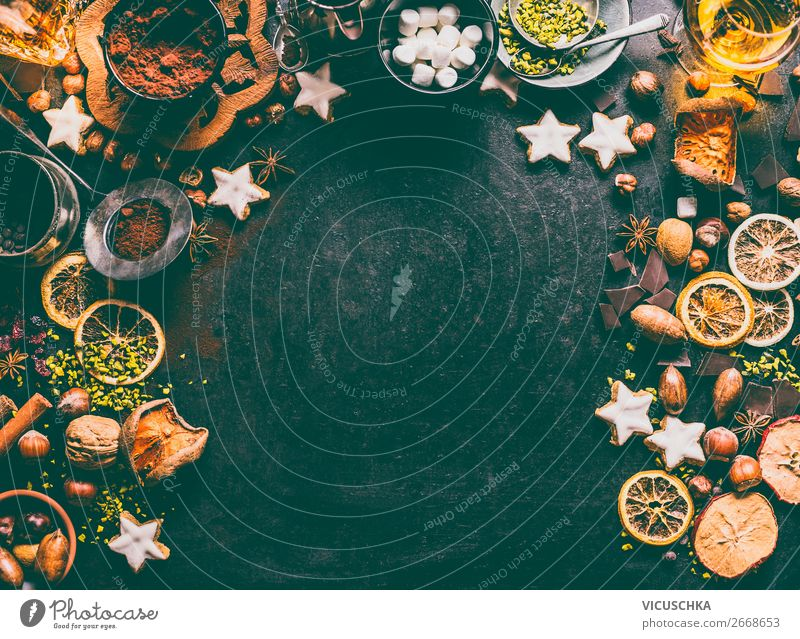 Christmas Biscuits Ingredients Food Fruit Cake Dessert Candy Chocolate Herbs and spices Nutrition Banquet Crockery Shopping Style Design Winter Decoration