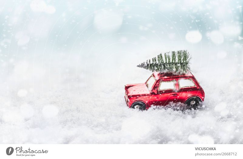 Christmas & Advent Joy Winter Snow Emotions Feasts & Celebrations Style Moody Design Snowfall Decoration Bright Car Shopping Sign Symbols and metaphors