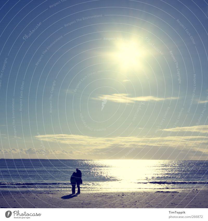 300 Years of Photocase: Eternal Love Beach North Sea Borkum East frisian island Lovers 2 people Romance Wanderlust Coast Vacation mood Vacation destination