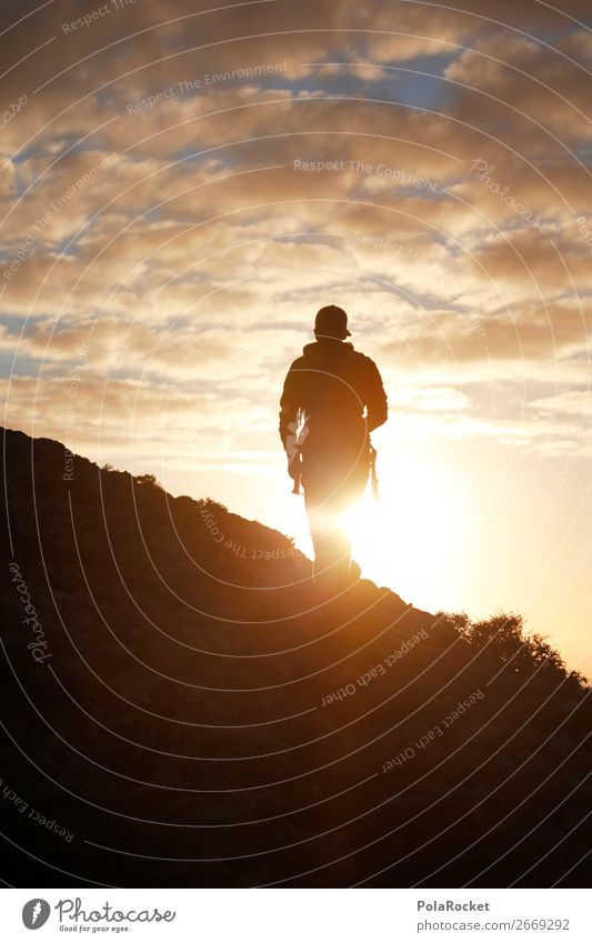 #AS# On the edge of the world Human being Masculine 1 Esthetic Hiking Exterior shot Walking Lanes & trails Footpath Future Futurism Fear of the future