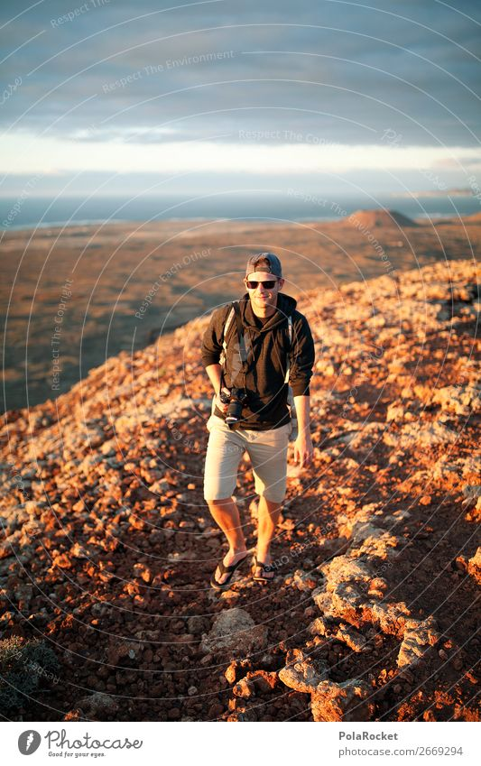 #AS# in the mood 1 Human being Esthetic Hiking Adventure Fuerteventura Trip Destination Exterior shot Youth (Young adults) Youth culture Movement Stony Peak
