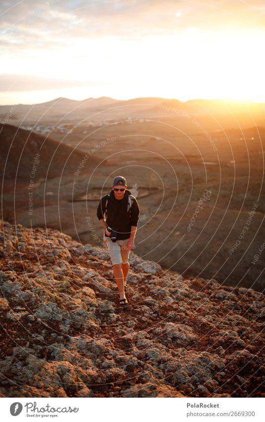 #AS# The WanderMan Art Esthetic Walking Hiking Hiking boots Class outing Hiking trip Itinerant tradesman Exterior shot Fuerteventura Masculine Adventure