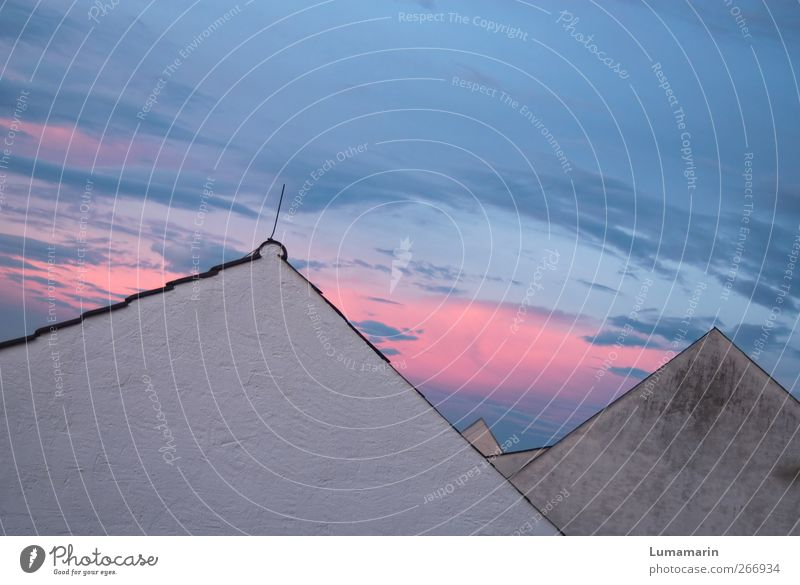 Sky Blue White City Beautiful Clouds House (Residential Structure) Environment Wall (building) Wall (barrier) Together Pink Facade Living or residing Future