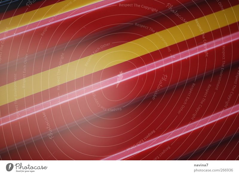 Red Colour Yellow Speed Crazy Stripe Diagonal Direct Entertainment Work of art
