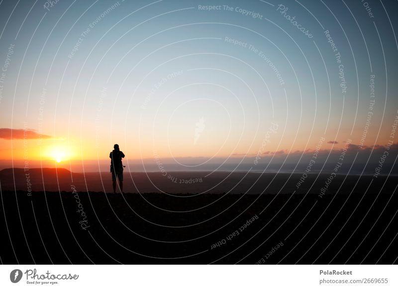 #AS# High End Human being Masculine 1 Esthetic Adventure Sun Sunrise Idyll Fuerteventura Tall Far-off places Mountain Peak Photographer Photography Take a photo