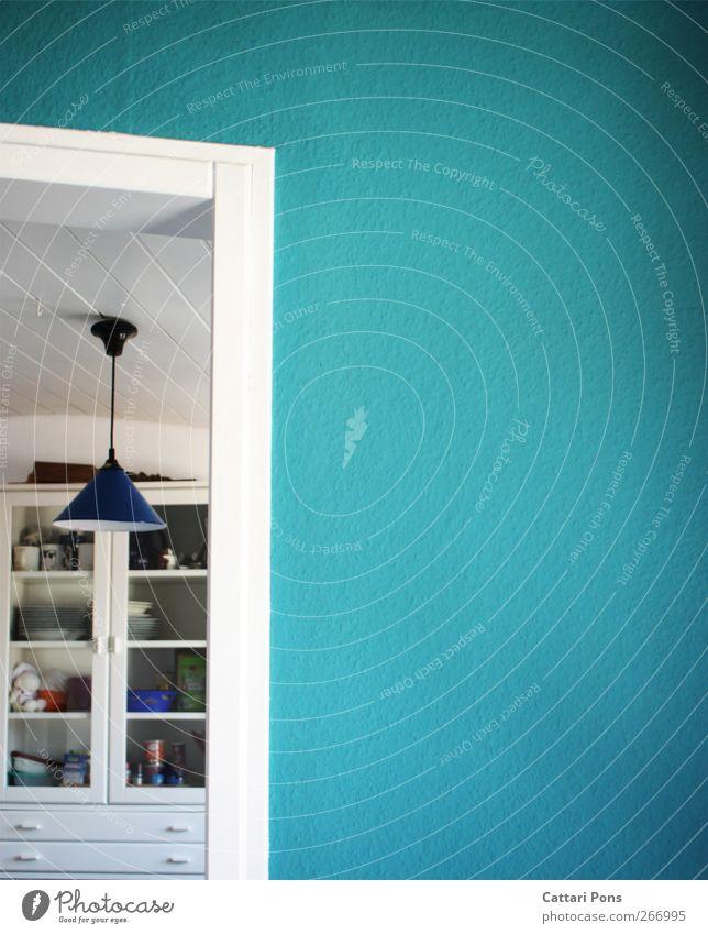 Blue White Lamp Bright Flat (apartment) Decoration Kitchen Simple Wallpaper Furniture Hang Full Arrange Cupboard Dyeing Doorframe