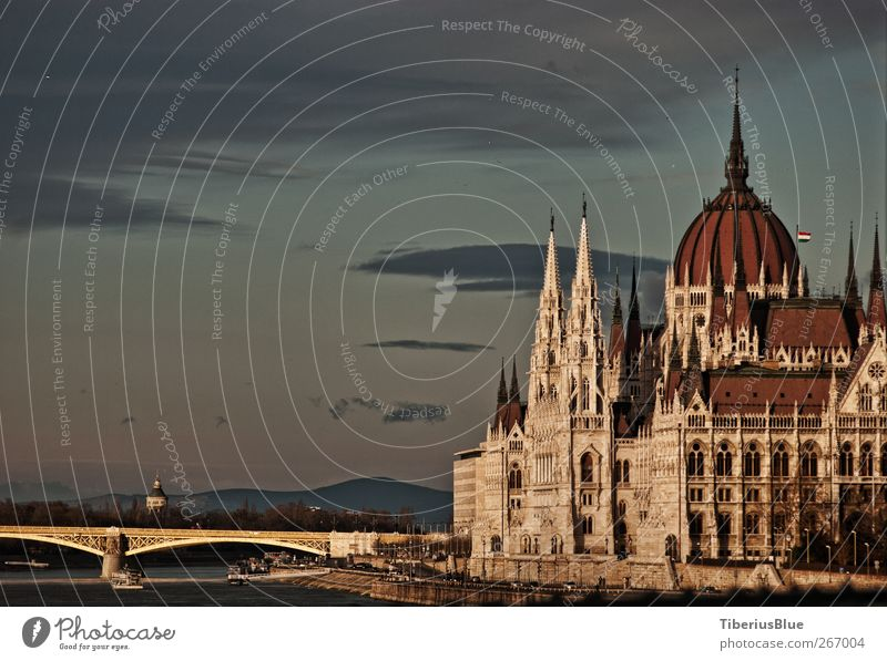 Budapest Parliament from the Chain Bridge City trip Architecture Capital city Old town Palace Manmade structures Building Tourist Attraction Landmark Monument