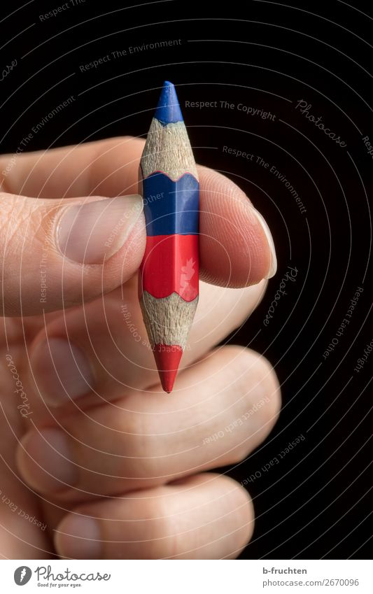 Blue Red Small School Above Office In pairs Study Fingers Point To hold on Select Indicate Under Pen Crayon