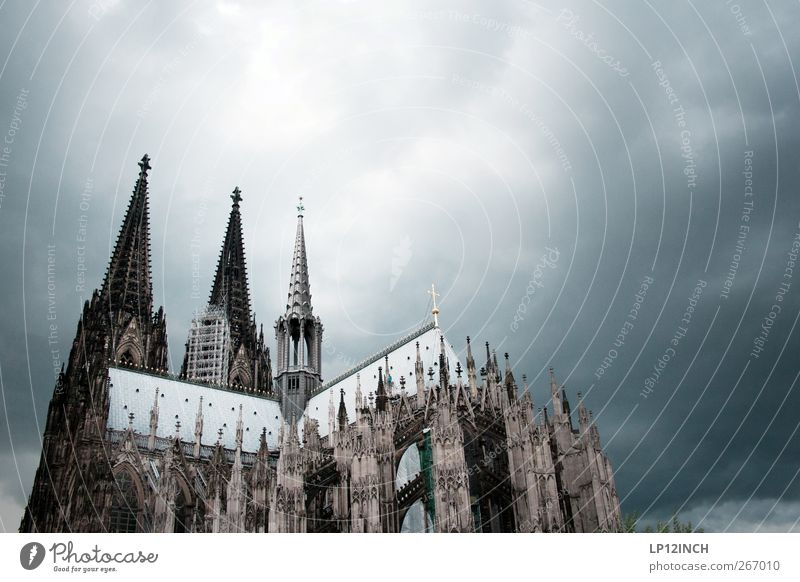 Old Vacation & Travel Dark Cold Religion and faith Power Church Tourism Creepy Cologne Landmark Dome Tourist Attraction Famousness City trip Cologne Cathedral