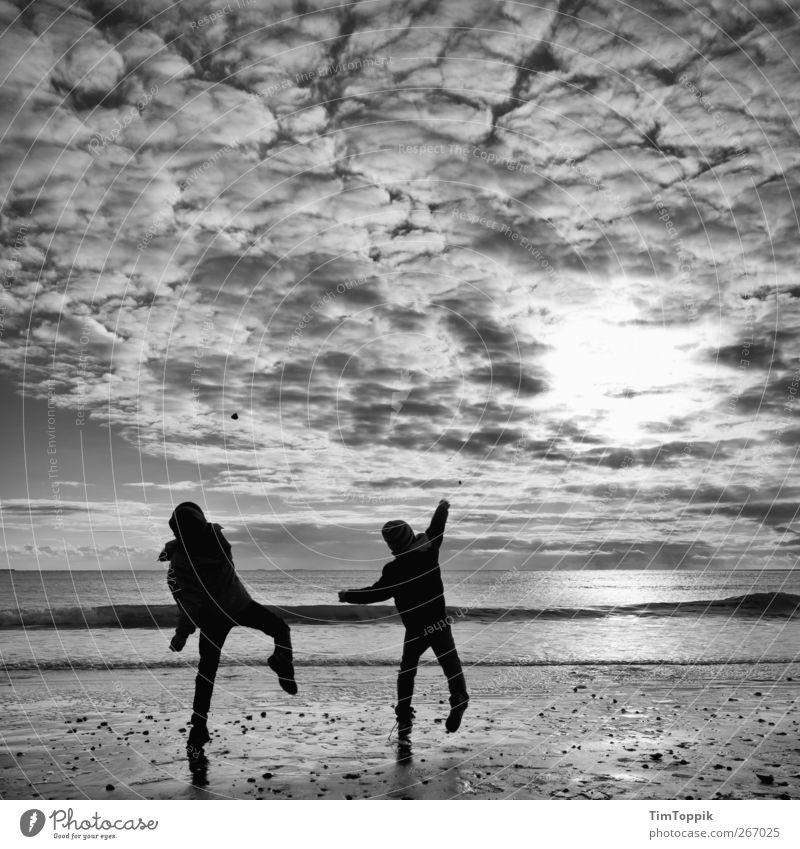 Borkum Bounce #2 North Sea Vacation & Travel North Sea coast North Sea Islands East frisian island Sky Clouds in the sky Sunset Playing Throw Dusk Evening sun