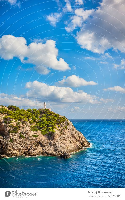 Capdepera Lighthouse on a beautiful day, Mallorca. Beautiful Vacation & Travel Tourism Trip Adventure Far-off places Freedom Cruise Summer Ocean Island Nature