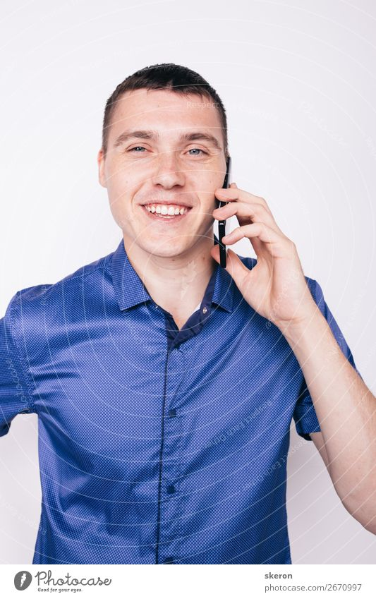 young guy emotionally talking on the phone Lifestyle Shopping Style Wellness Leisure and hobbies Playing Birthday Parenting Education Work and employment
